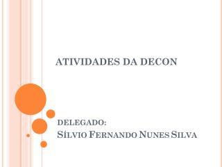 ATIVIDADES DA DECON