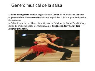 Genero musical de la salsa