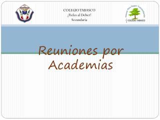 Reuniones por Academias
