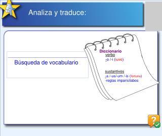 Analiza y traduce: