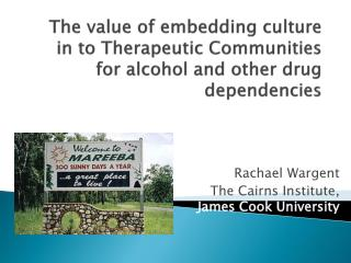 Rachael Wargent The Cairns Institute,  James Cook University