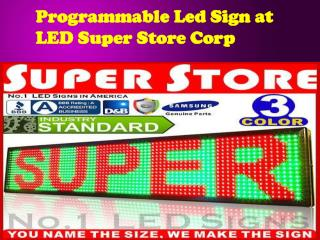 Programmable Led Sign at LED Super Store Corp