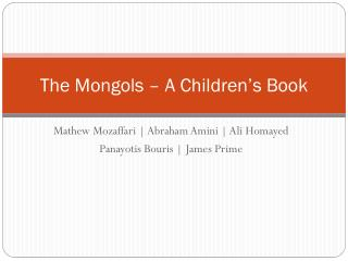 The Mongols – A Children's Book
