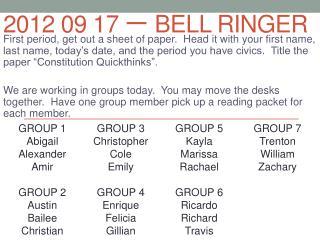 2012 09  17 一  Bell Ringer