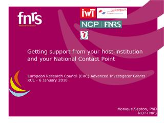 Getting support  from your  host  institution and  your  National Contact Point
