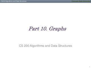 Part 10. Graphs