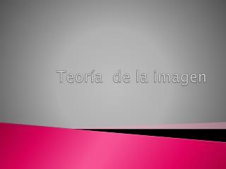 Teoría  de la imagen