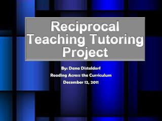Reciprocal Teaching Tutoring Project
