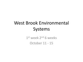 West Brook Environmental Systems