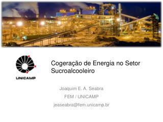 Cogeração  de Energia no Setor Sucroalcooleiro