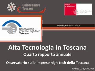 Alta Tecnologia in Toscana Quarto rapporto annuale