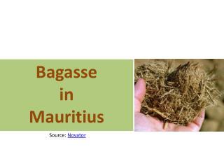 Bagasse i n Mauritius