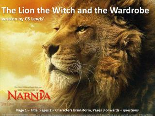 The Lion the Witch and the Wardrobe written by CS  Lewis'