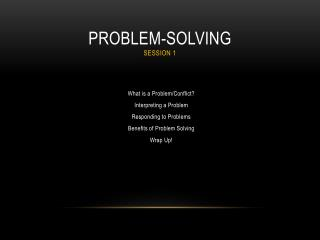 Problem-Solving Session 1