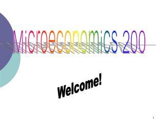 Microeconomics 200