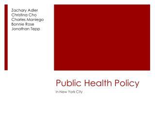 Public Health Policy