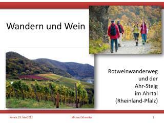 Wandern und Wein