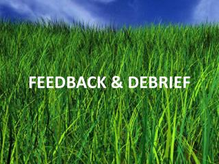 FEEDBACK & DEBRIEF