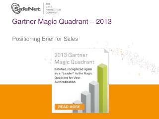 Gartner Magic Quadrant – 2013