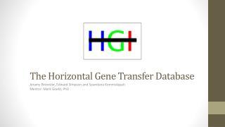 The Horizontal Gene Transfer Database