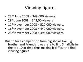 Viewing figures