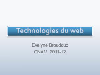 Technologies du web