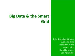 Big Data & the Smart Grid