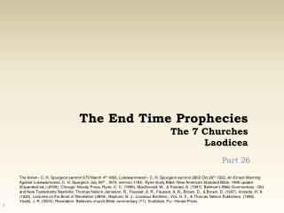 The End Time Prophecies The 7 Churches Laodicea