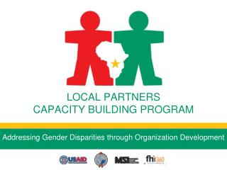 LOCAL PARTNERS  CAPACITY BUILDING PROGRAM