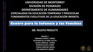 Centro para la  Infancia  y las  Familias