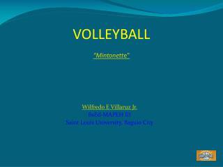 "VOLLEYBALL  ""Mintonett e"""