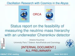 Oscillation Research with  Cosmics  in the Abyss