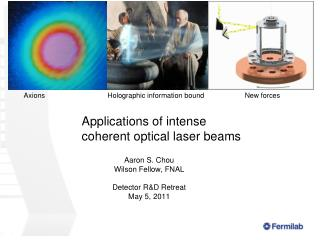 Applications of intense coherent optical laser beams
