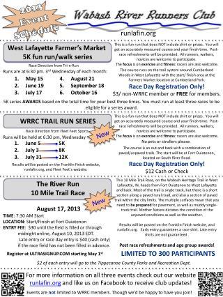 2013 Event Schedule
