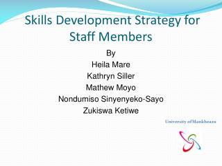 Skills Development Strategy for Staff Members