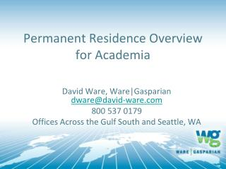 Permanent Residence Overview for Academia