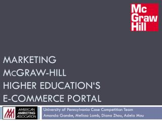 Marketing  M c Graw-Hill Higher Education's  E-Commerce Portal