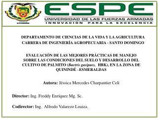 DEPARTAMENTO DE CIENCIAS DE LA VIDA Y LA AGRICULTURA
