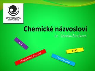 Chemické názvosloví