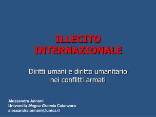 ILLECITO INTERNAZIONALE