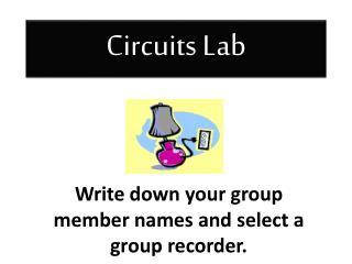 Circuits Lab