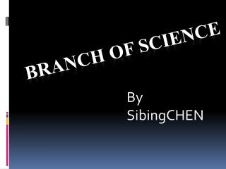 Branch Of Science