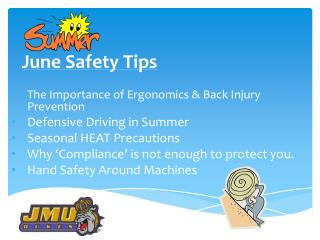 June Safety  Tips