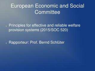 Financing of Welfare