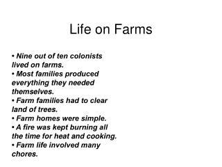Life on Farms