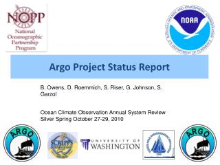 Argo Project Status Report
