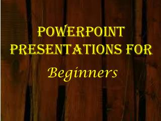 PowerPoint Presentations for