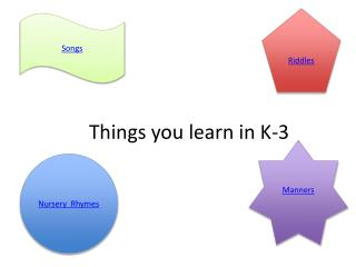 Things you learn in K-3