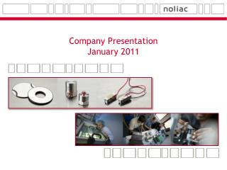 Company Presentation January 2011