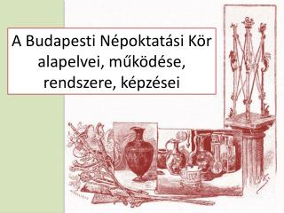 A Budapesti Népoktatási Kör alapelvei,  működése, rendszere , képzései